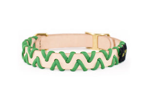 Zig Zag Collar - Kelly Green