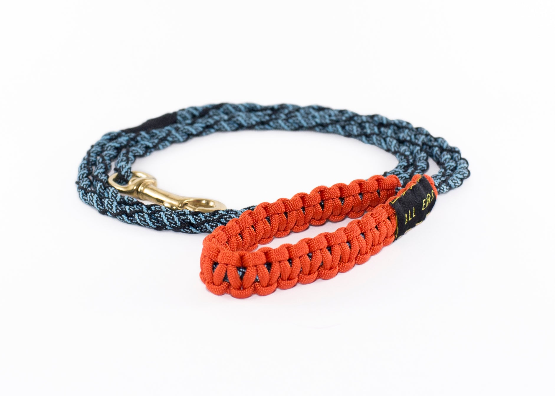 Cat Leash Braided Paracord 550 - Turquoise and Black