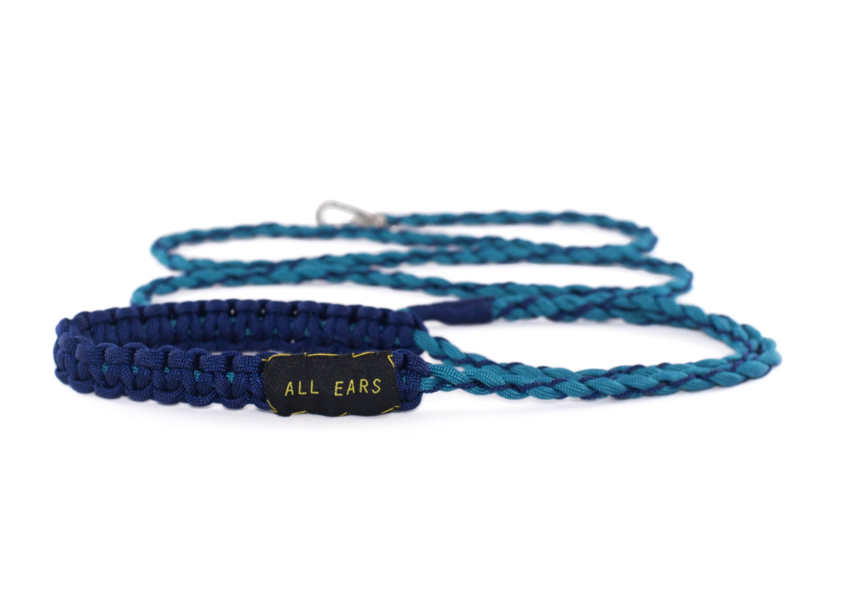 Cat Leash Braided Paracord 550 - Teal and Midnight Blue