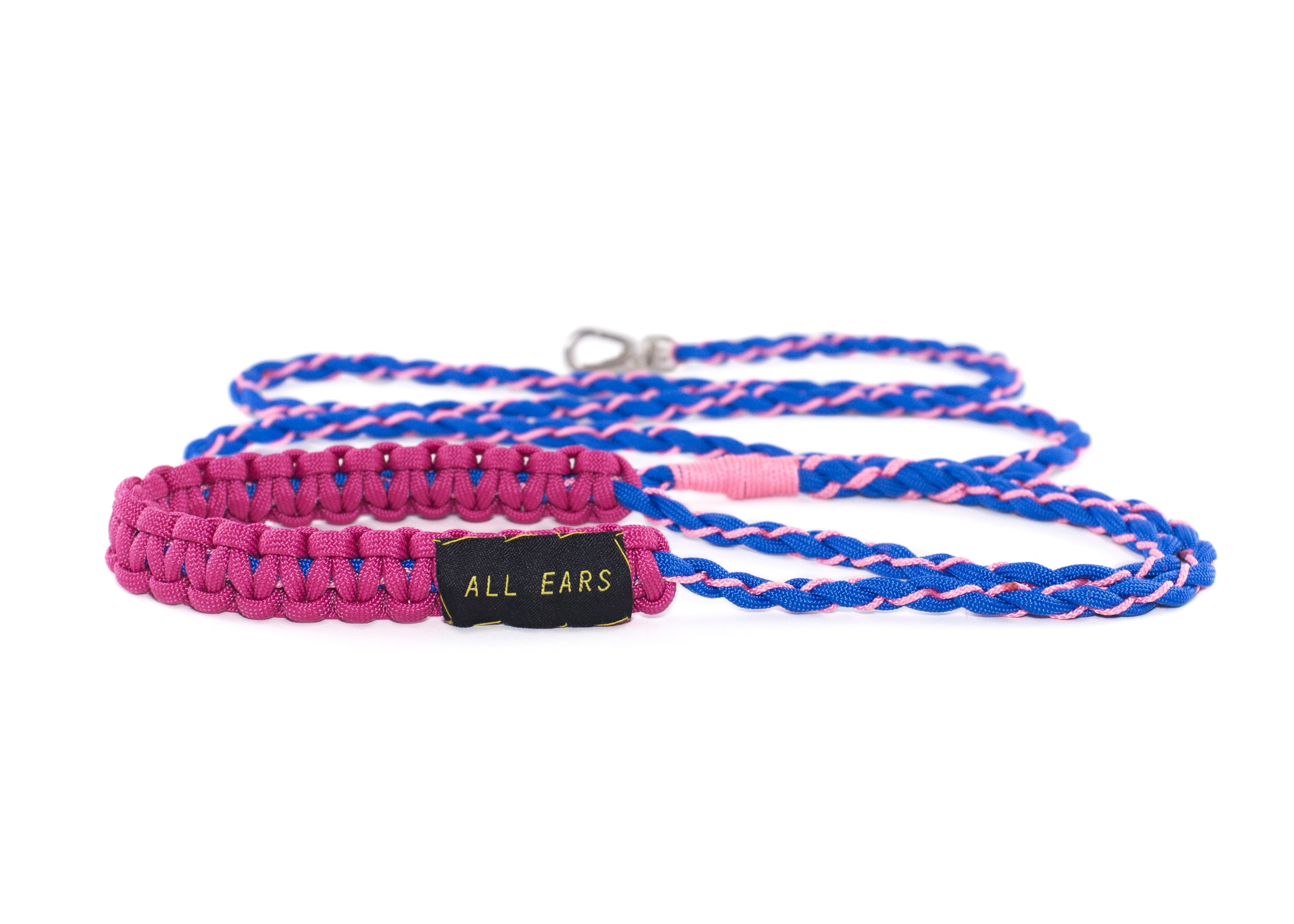 Cat Leash Braided Paracord 550 - Blue and Pink