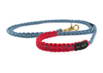 Braided Paracord 550 Leash - Neon Turquoise Double Helix