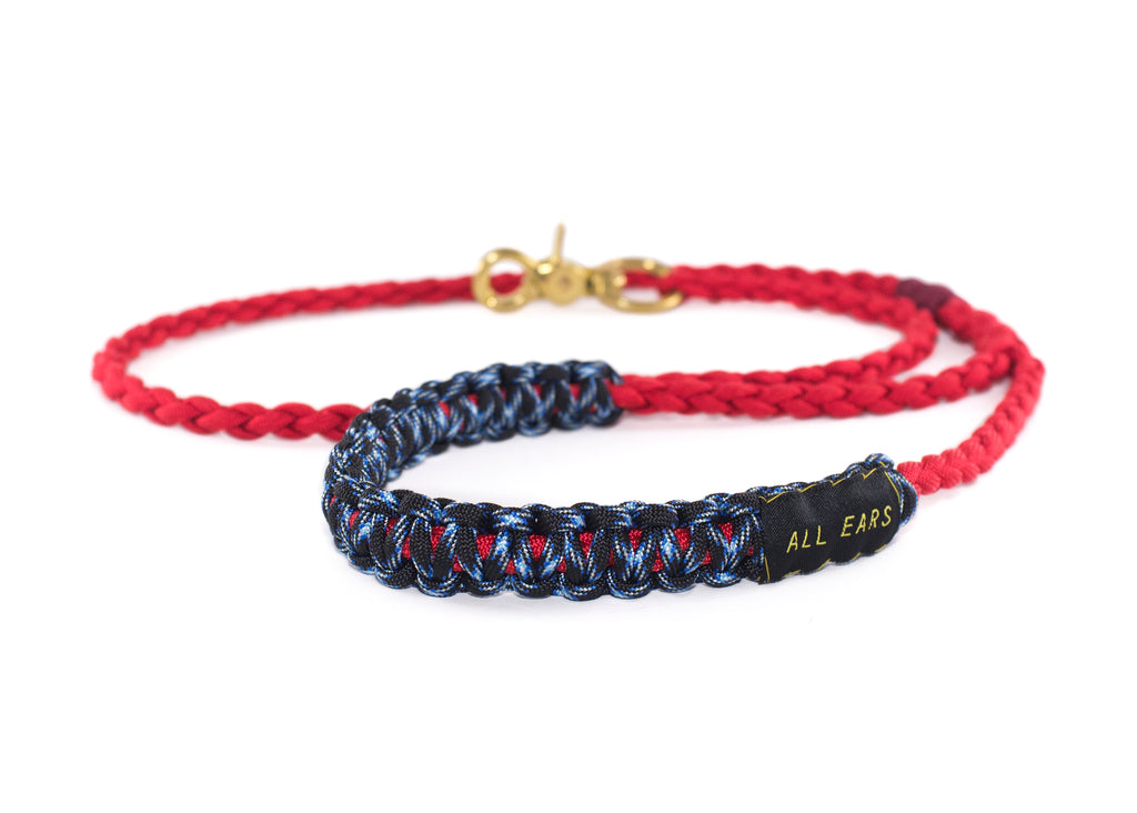 Braided Paracord 550 Leash - Imperial Red