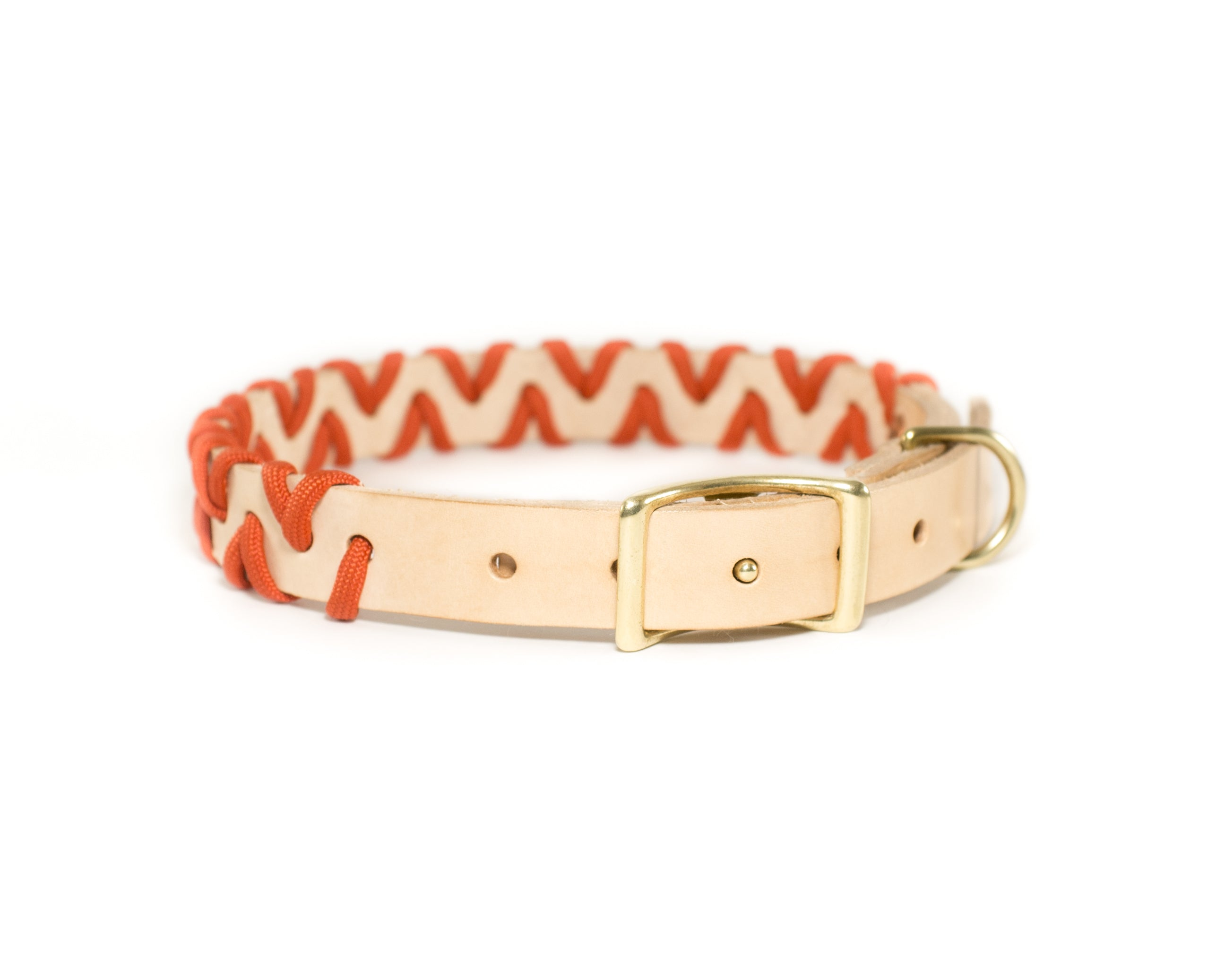 Zig Zag Collar - Solar Orange