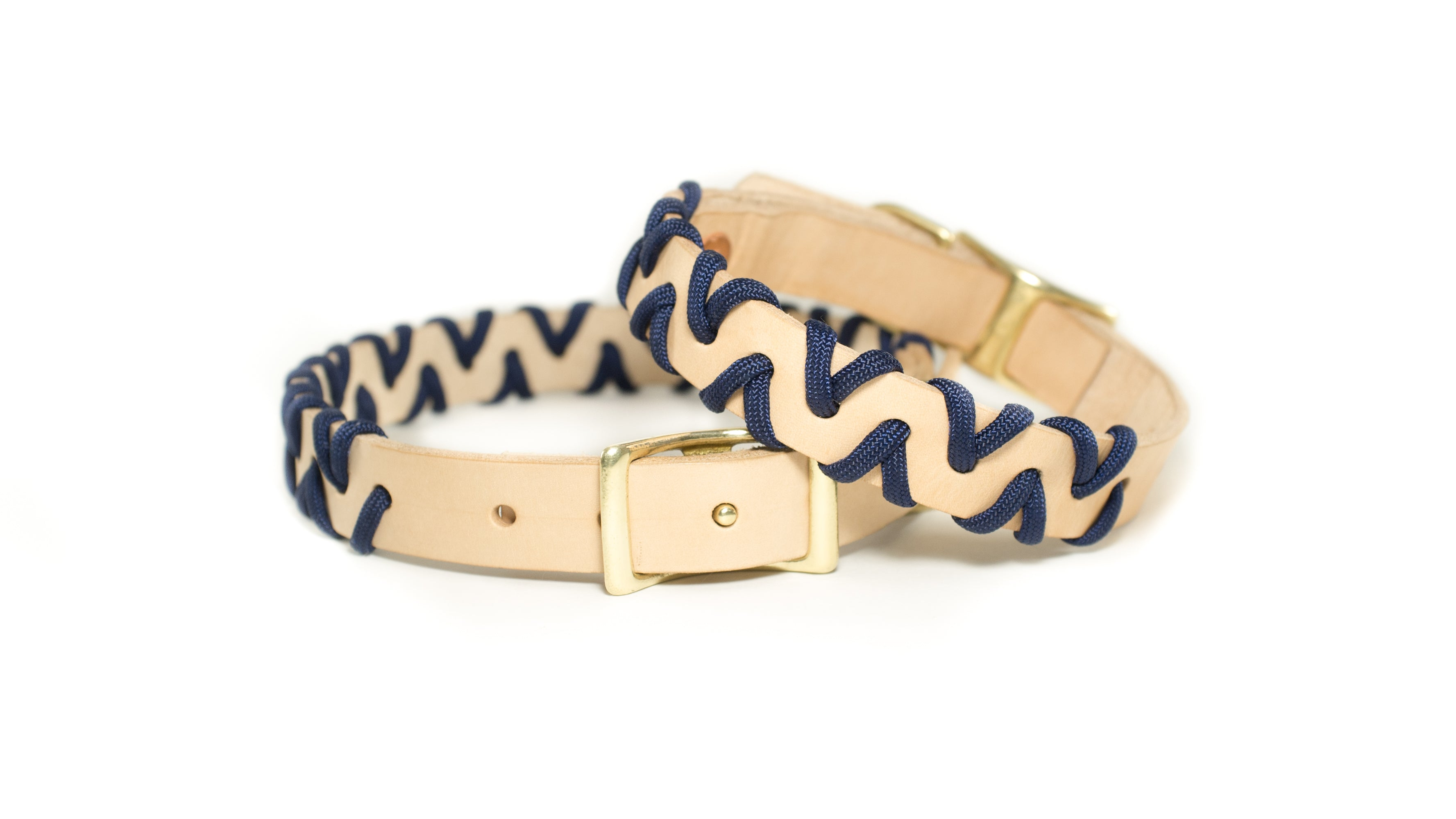 Zig Zag Collar - Midnight Blue