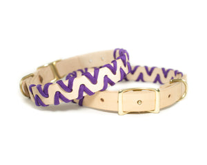 Zig Zag Collar - Acid Purple
