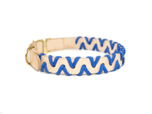 Zig Zag Collar - Royal Blue