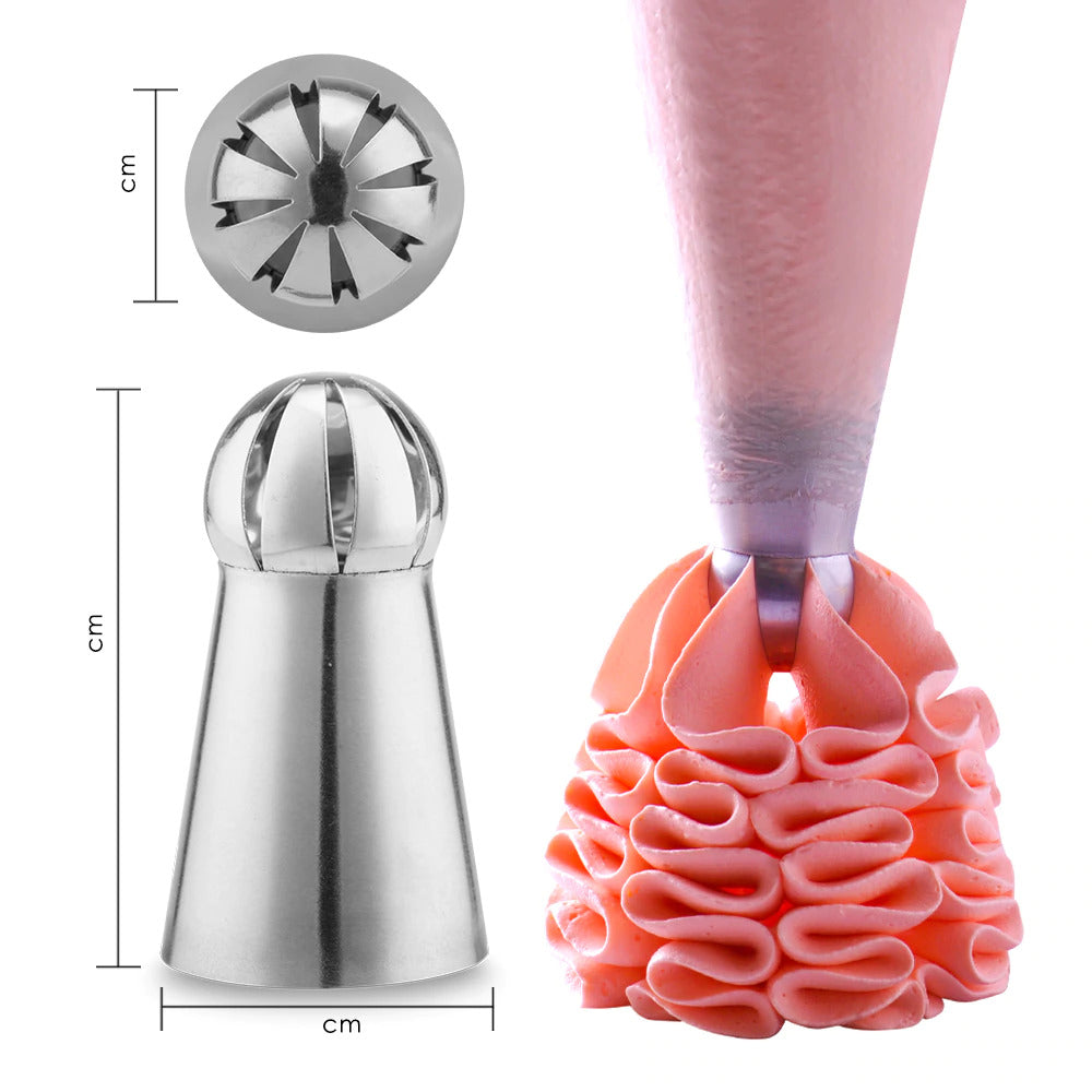 Trendy Gem - Russian Ball Icing Piping Nozzle [7Pcs]