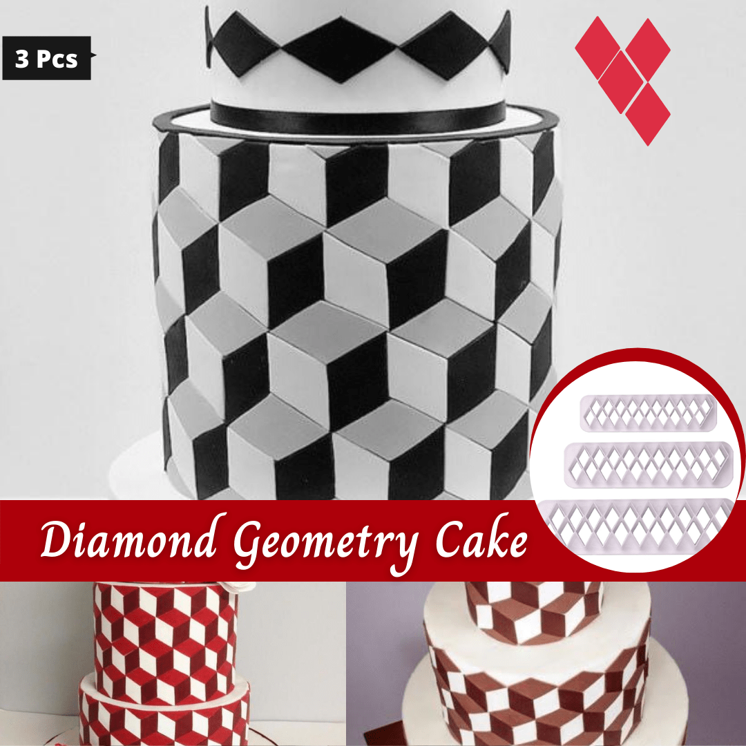 Trendy Gem Baking Accessories Diamond Geometry Geometry Cake Cutters