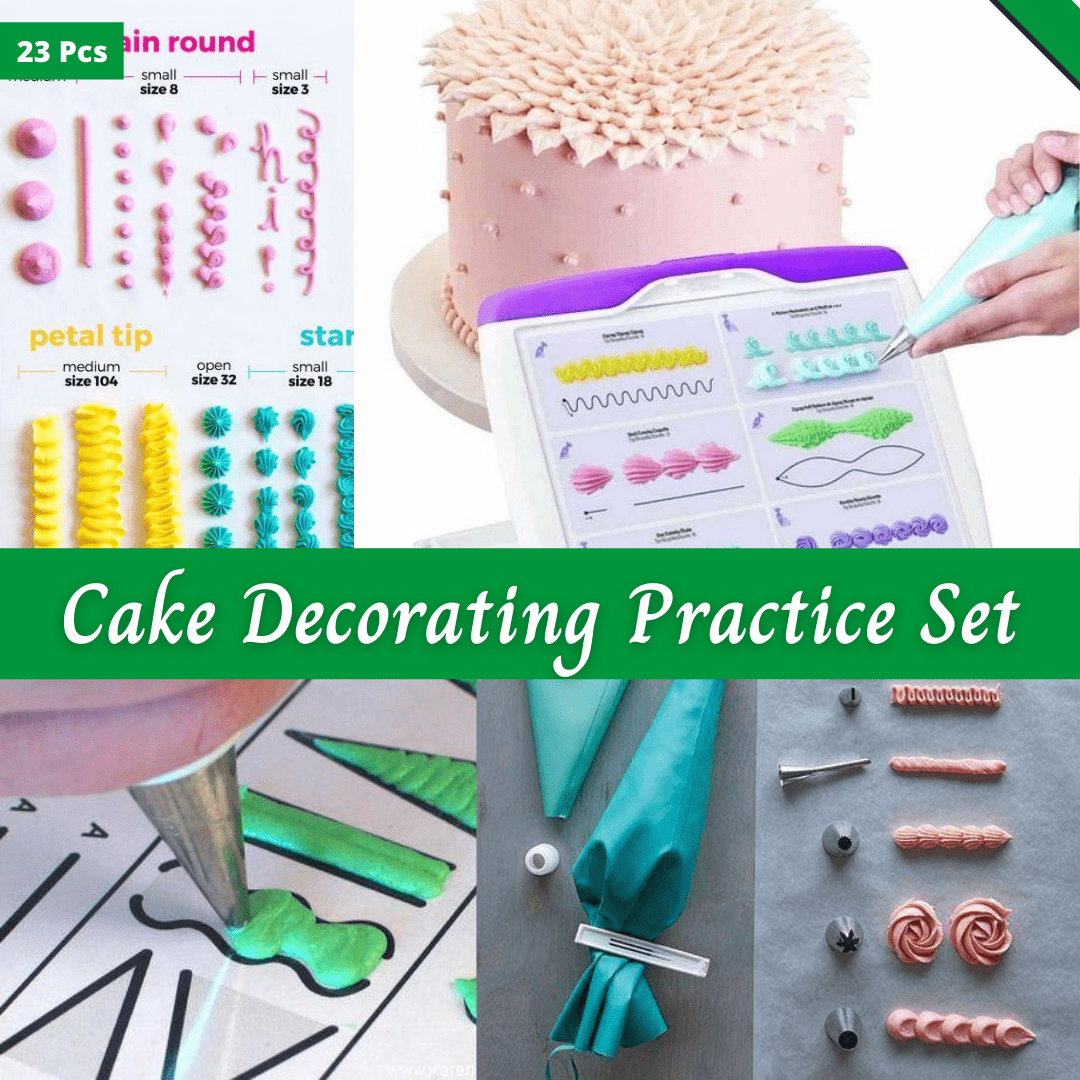 Trendy Gem Baking Accessories DIY Cake Decorating Practice Set