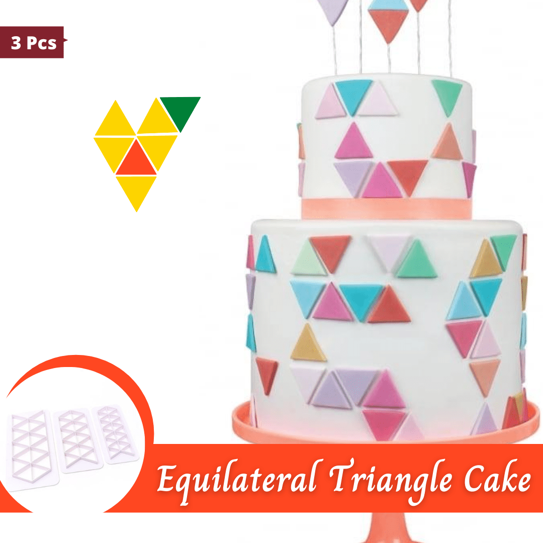 Trendy Gem Baking Accessories Equilateral Triangle Geometry Cake Cutters