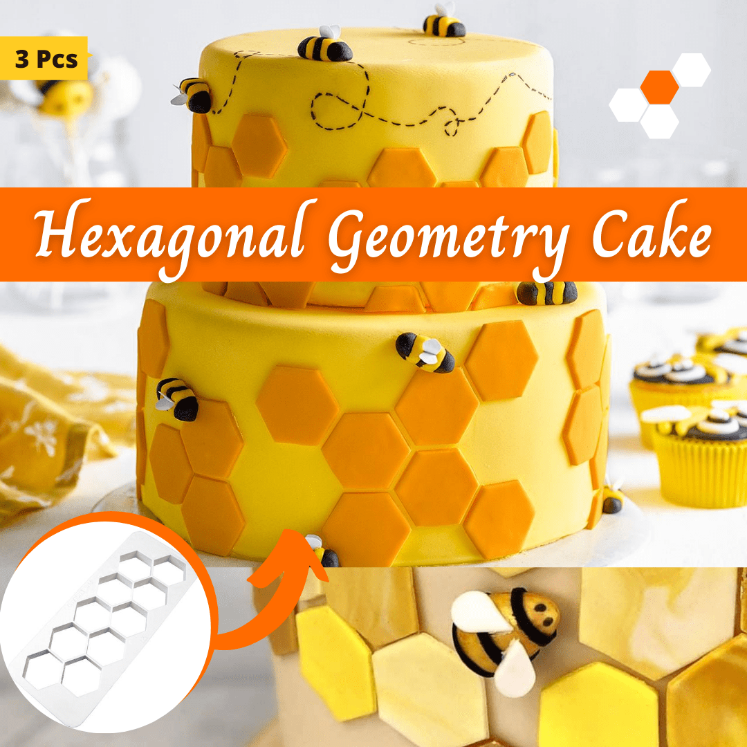 Trendy Gem Baking Accessories Hexagonal Geometry Geometry Cake Cutters