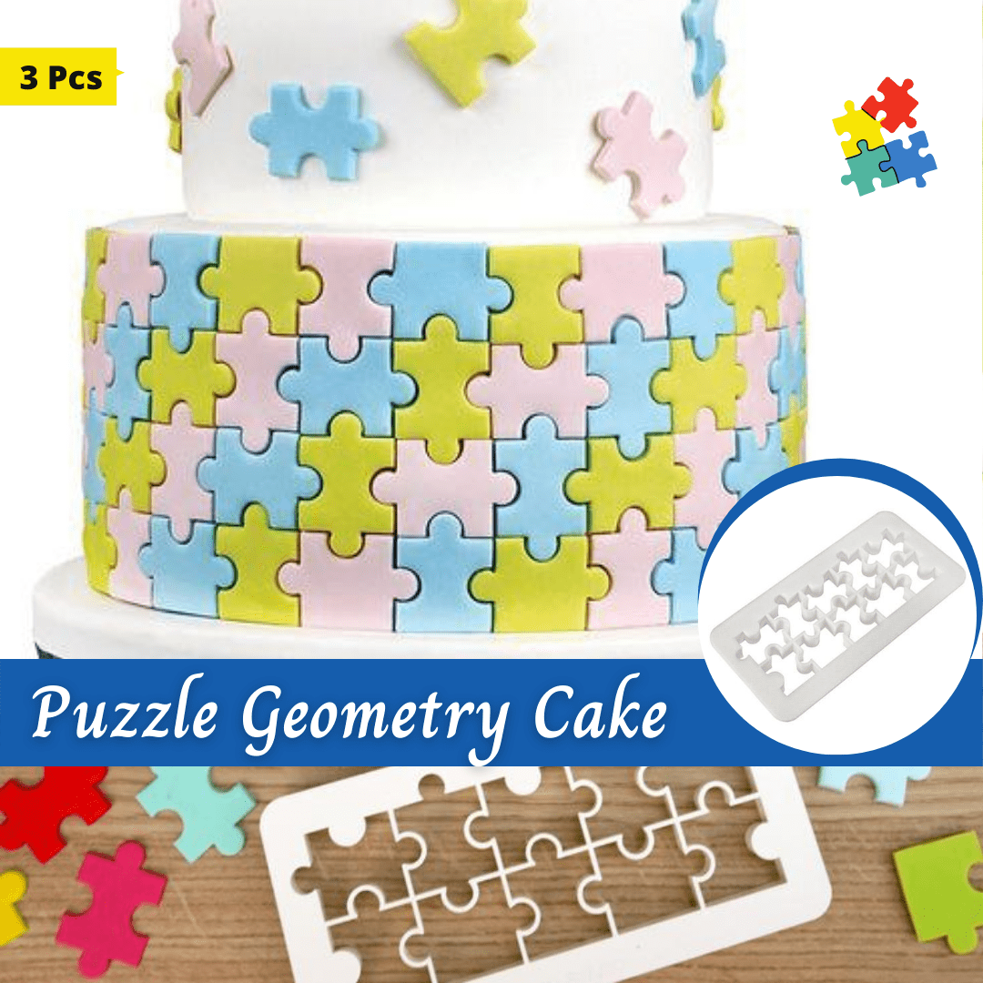 Trendy Gem Baking Accessories Puzzle Geometry Geometry Cake Cutters