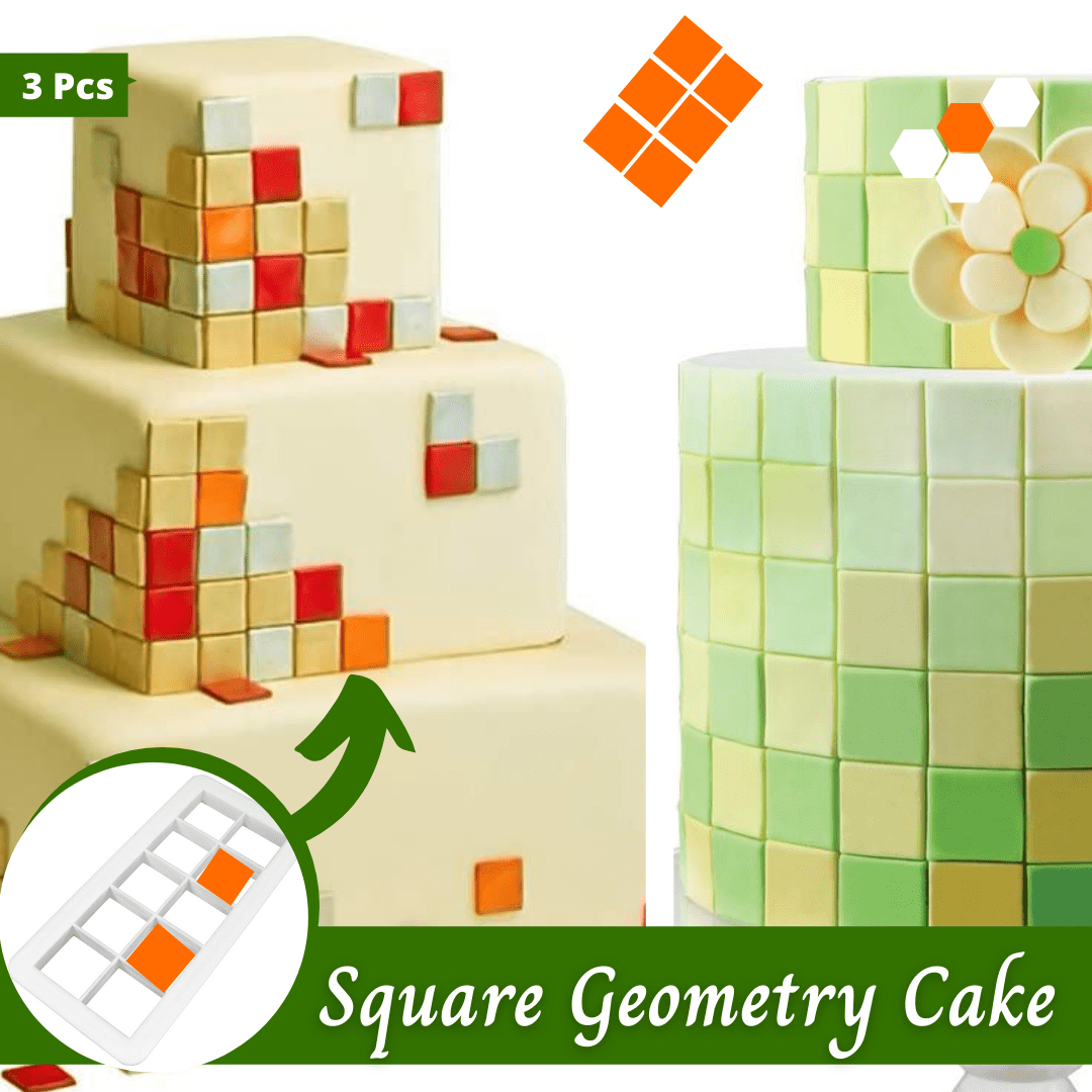 Trendy Gem Baking Accessories Square Geometry Geometry Cake Cutters