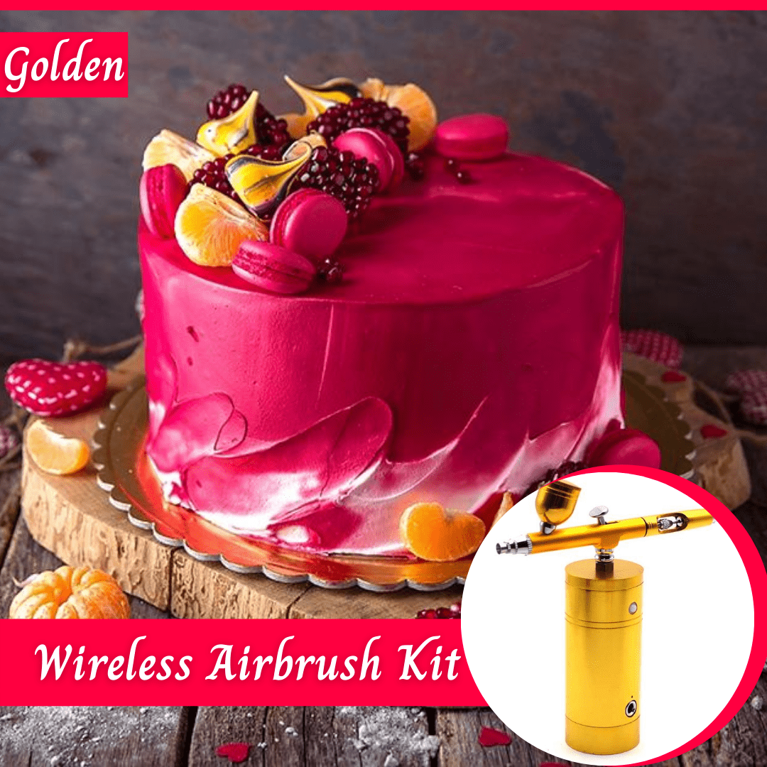 Trendy Gem Decorating Tools Golden Wireless Airbrush Kit