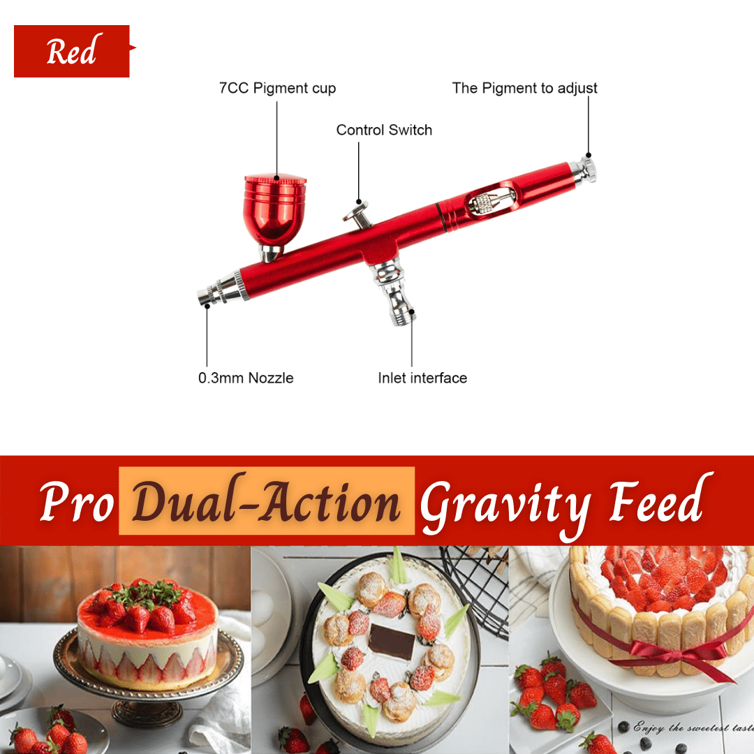 Trendy Gem Decorating Tools Red Dual Action Airbrush Gun