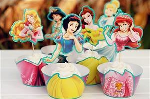 Trendy Gem Liners & Toppers All (24 pcs) Princess Cupcake Toppers [24 Pcs]