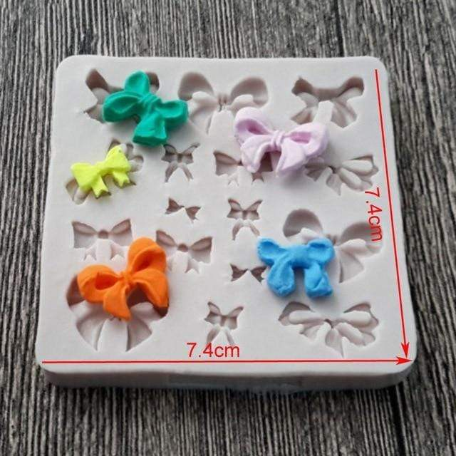 Trendy Gem Silicone Moulds 0035 Various Sizes Bow Mould