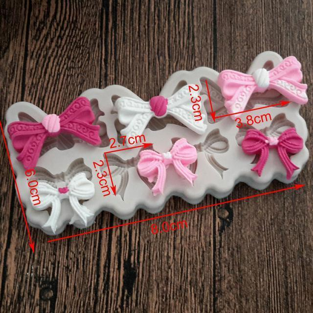 Trendy Gem Silicone Moulds 0041 Various Sizes Bow Mould