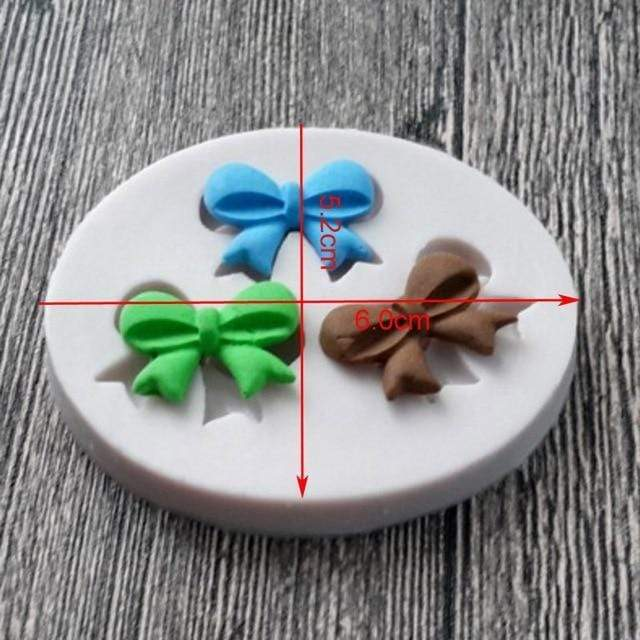 Trendy Gem Silicone Moulds 0043 Various Sizes Bow Mould