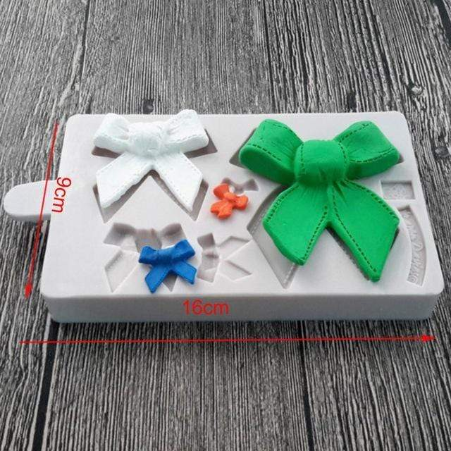 Trendy Gem Silicone Moulds 0044 Various Sizes Bow Mould