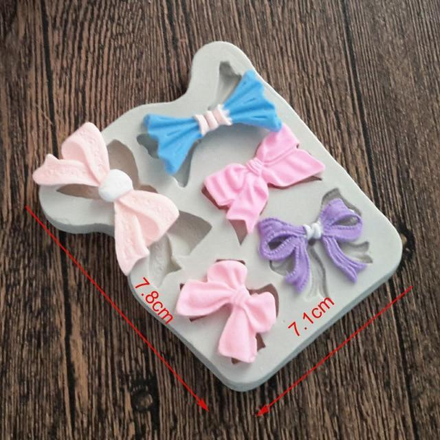 Trendy Gem Silicone Moulds 0045 Various Sizes Bow Mould