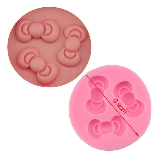 Trendy Gem Silicone Moulds 0049 Various Sizes Bow Mould