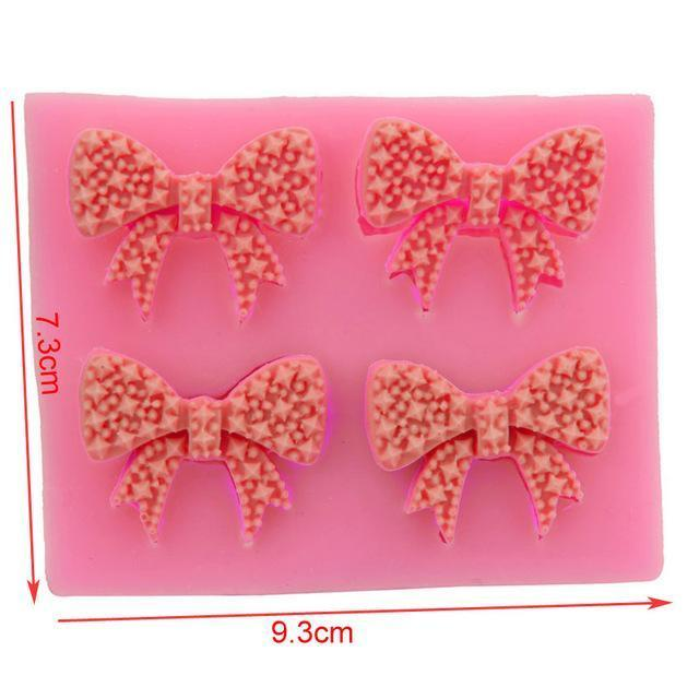 Trendy Gem Silicone Moulds 0050 Various Sizes Bow Mould