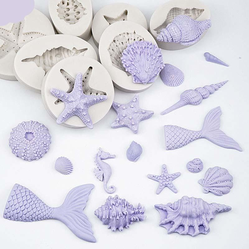 Trendy Gem Silicone Moulds 3D Mermaid Tail Mould