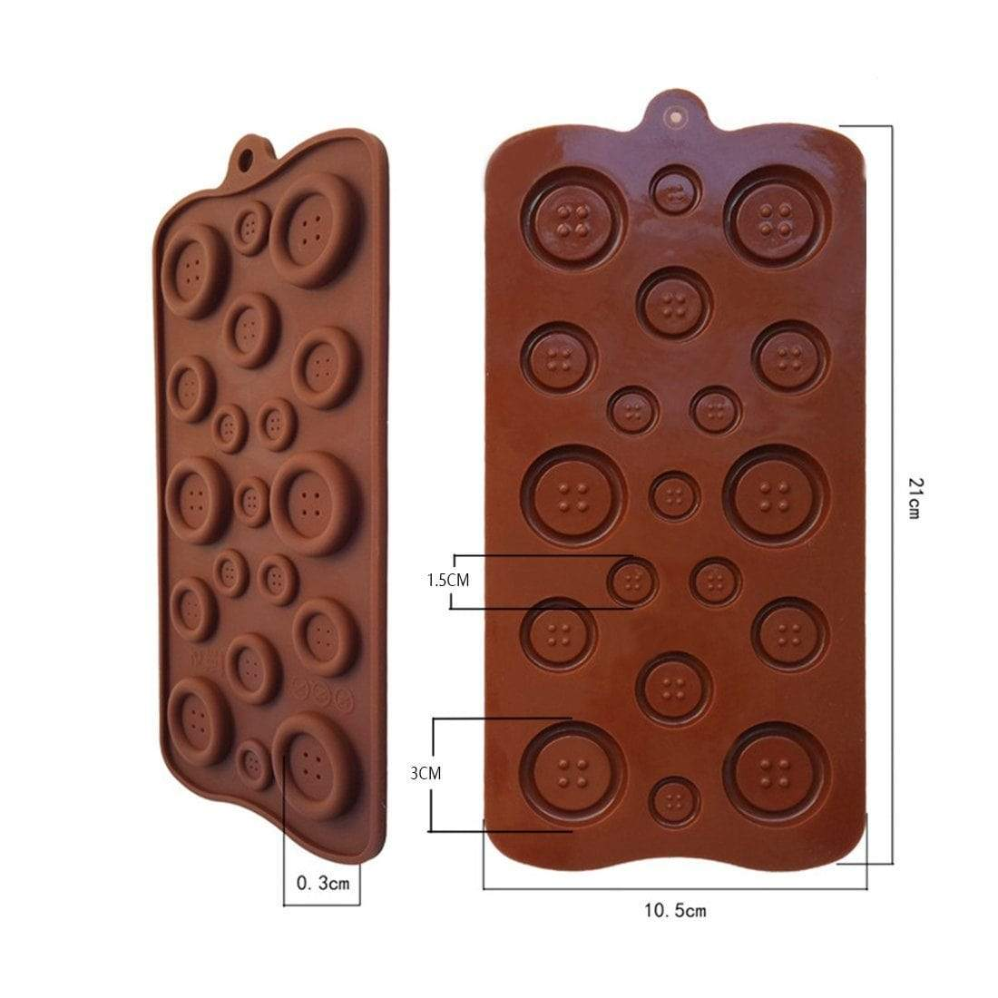 Trendy Gem Silicone Moulds Button Shape Mould