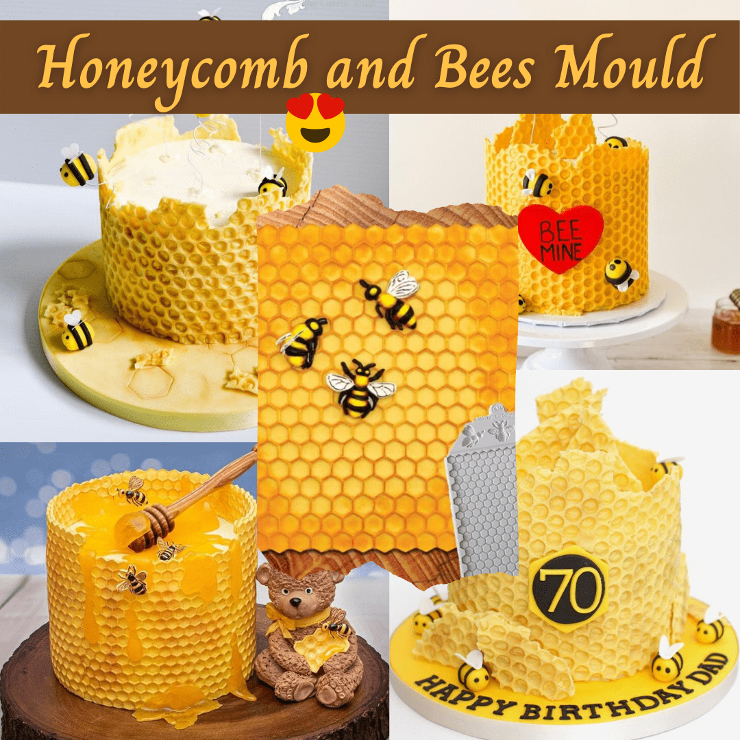 Continuous Honeycomb and Bees Textured Mould