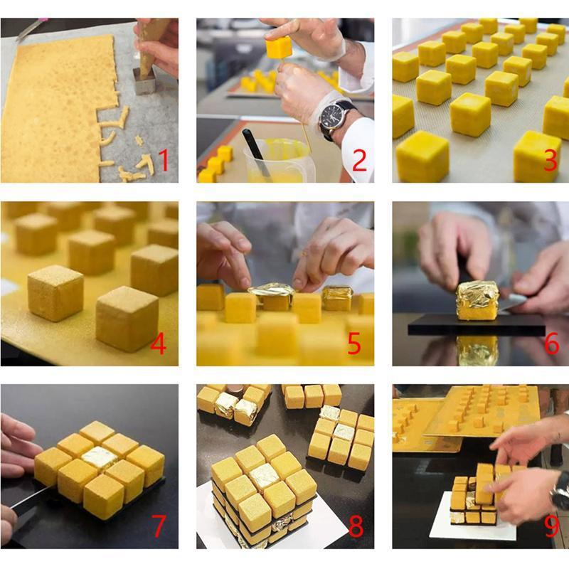 Trendy Gem Silicone Moulds Cube Shape Cake Mould