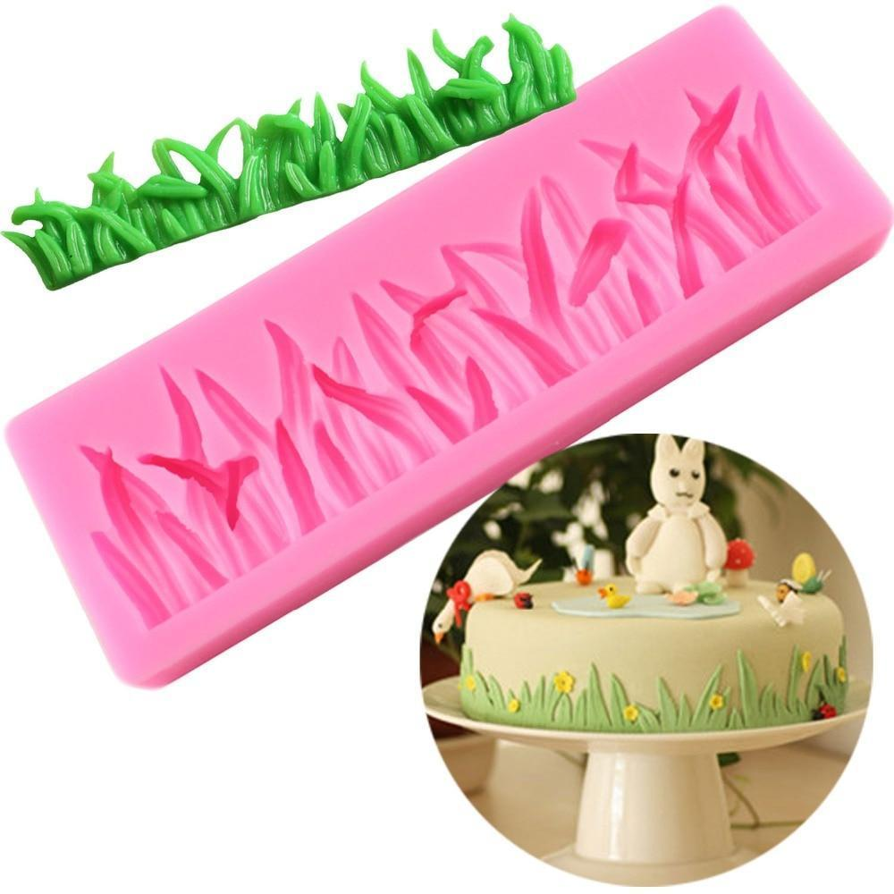 Trendy Gem Silicone Moulds Grass Shape Cake Mould