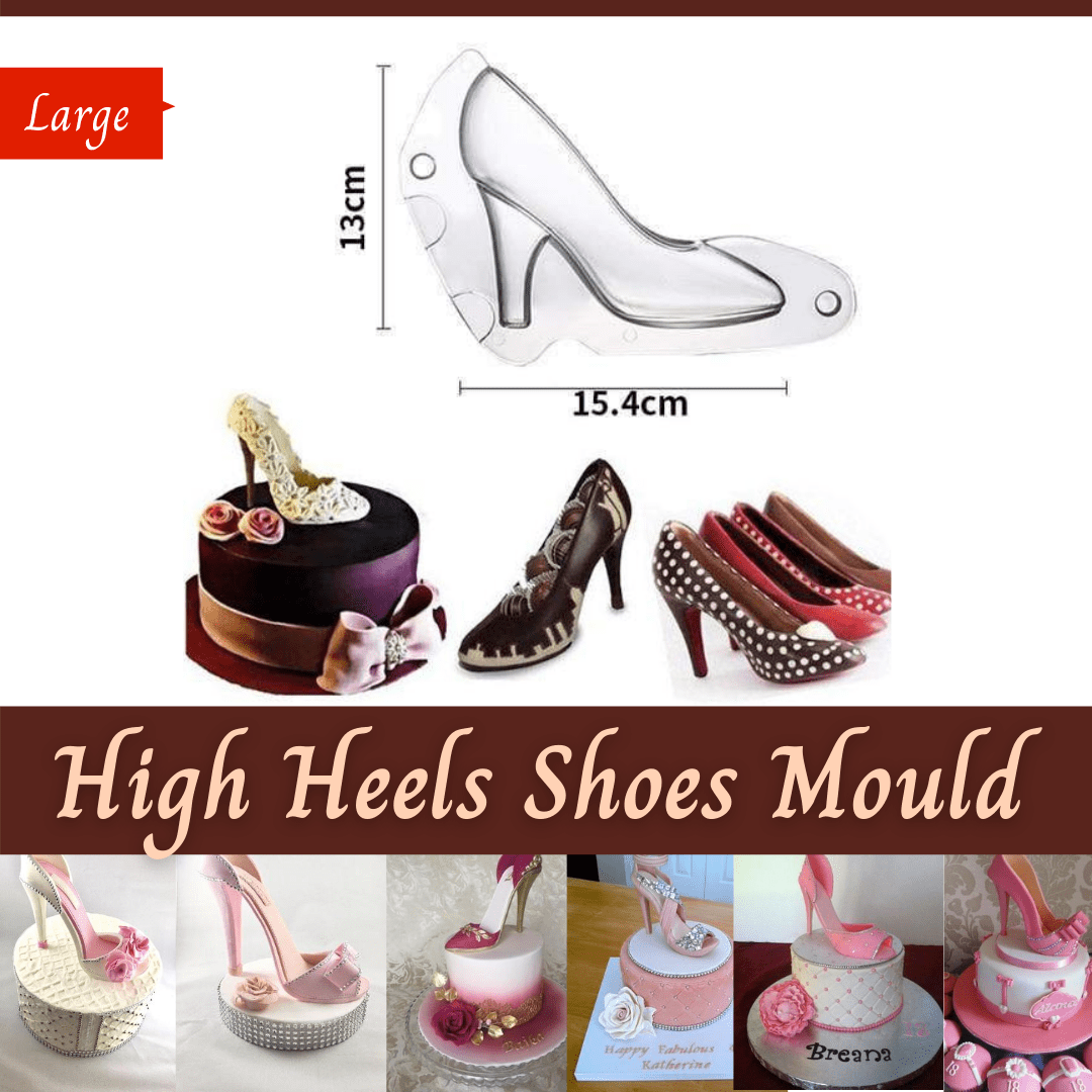 Trendy Gem Silicone Moulds Large High Heels Shoes Mould