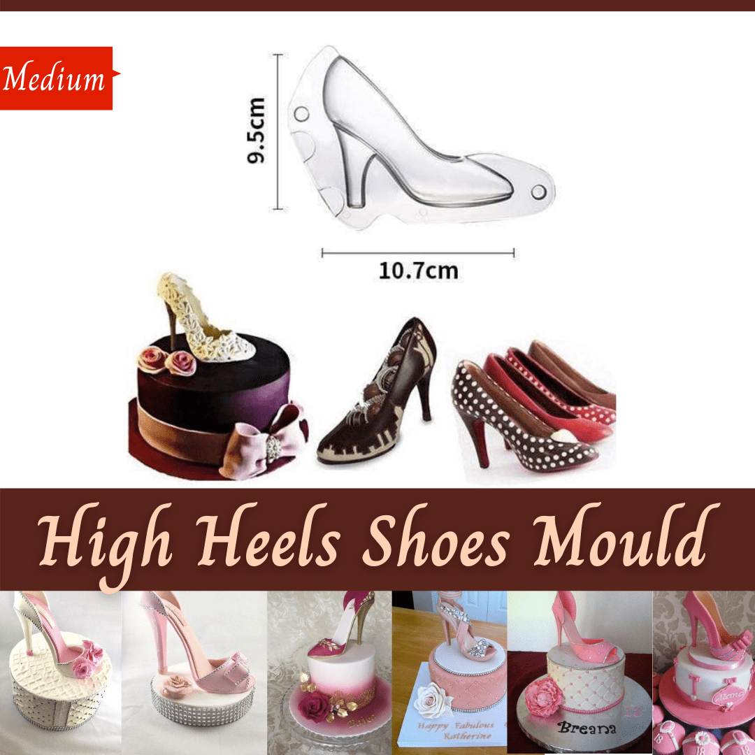Trendy Gem Silicone Moulds Medium High Heels Shoes Mould