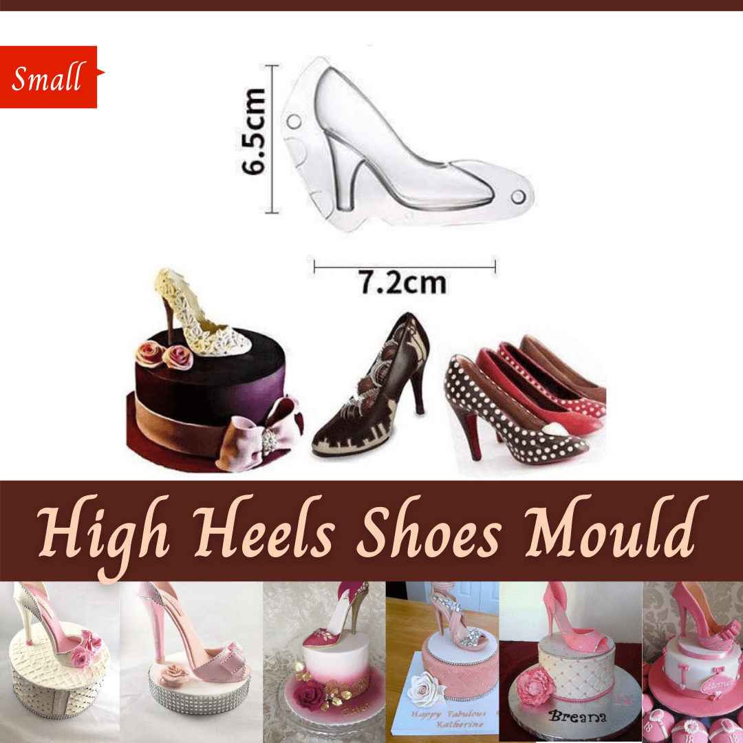 Trendy Gem Silicone Moulds Small High Heels Shoes Mould