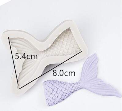 Trendy Gem Silicone Moulds Type 1 3D Mermaid Tail Mould