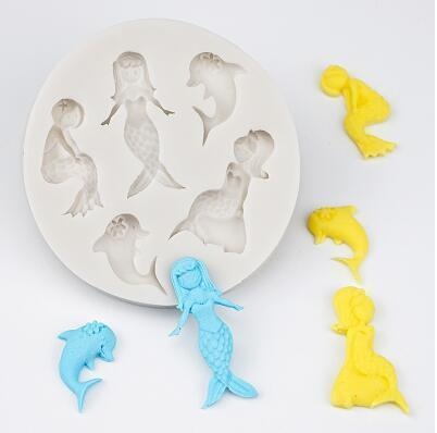 Trendy Gem Silicone Moulds Type 12 3D Mermaid Tail Mould