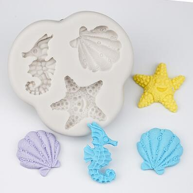 Trendy Gem Silicone Moulds Type 16 3D Mermaid Tail Mould