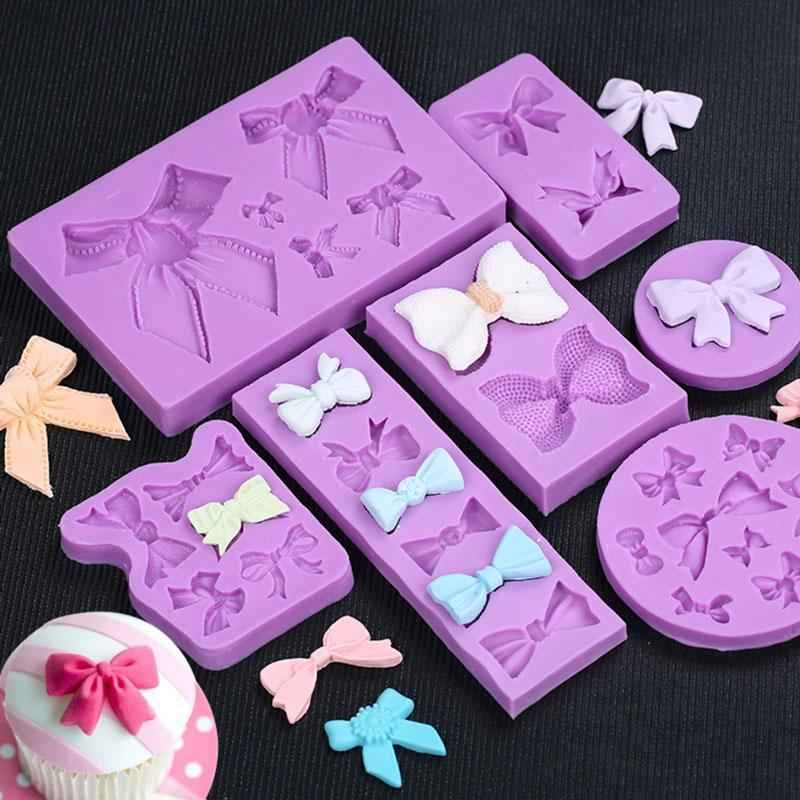 Trendy Gem Silicone Moulds Various Sizes Bow Mould