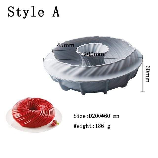 Trendy Gem Style A Silicone Cake Baking Mould