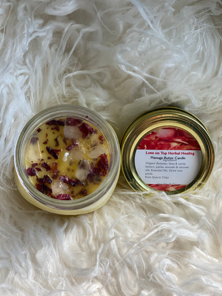 Love on Top Herbal Healing Massage Butter Candle - RoyallyFit