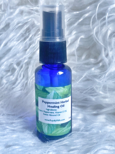 Organic Peppermint Herbal Healing Oil - Royally Fit