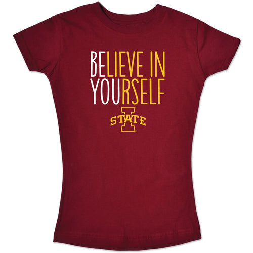 Iowa State Cyclones Youth Girl Believe In Yourself Tee