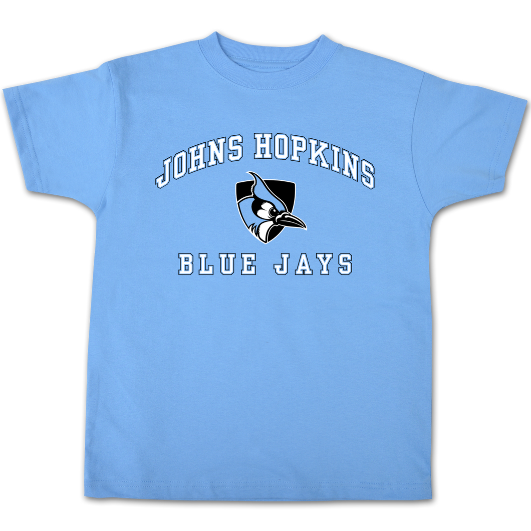 Johns Hopkins Blue Jays Youth Short Sleeve Tee