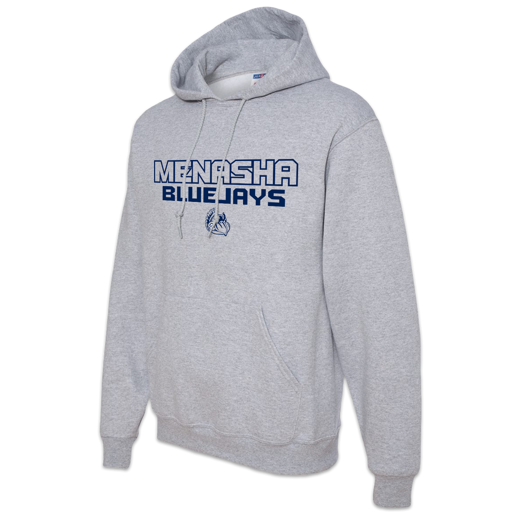 Menasha High School Blue Jays Adult Hooded Sweatshirt