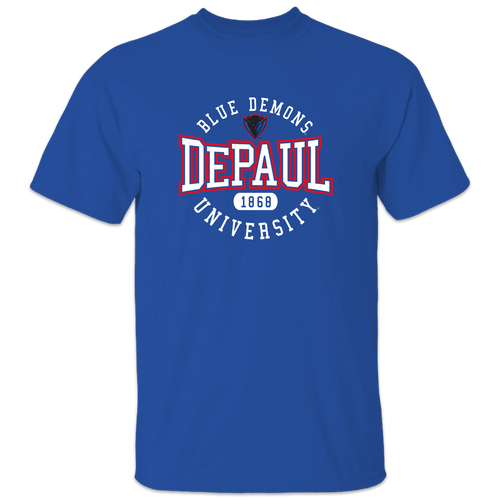 DePaul Blue Demons Adult Short Sleeve Tee