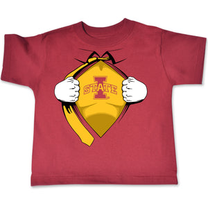 Iowa State Cyclones Toddler Short Sleeve Super Hero Tee