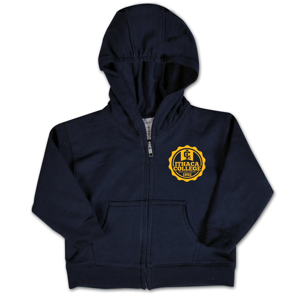 Ithaca College Bombers Toddler Zip Hood Sweatshirt