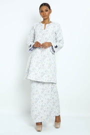 Baju Kurung Hessa Brocade in Blue