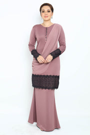 Baju Kurung Aster in Dusty Purple